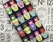 Notebook Cover for Moleskine, Matryoshka Dolls, Fabric Traveler's Notebook, Fabric Fauxdori, Midori Style Planner