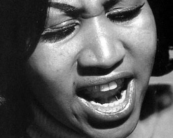 Aretha Franklin Poster, Singing, Jazz, Pop, Gospel, R&B, Soul, Iconic Singer