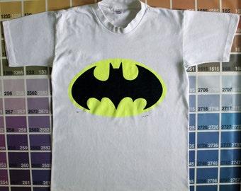Vintage Batman shirt   80s Batman logo tee men S   1980s comic book shirt   pop culture shirts   vintage DC Comics t-shirt   Batman gifts