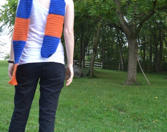 Portal Inspired Scarf - Orange and Blue