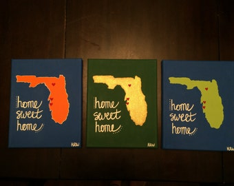 "State ""Home Sweet Home"" Canvas Painting"