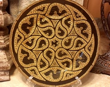 Gothic ornament Glass painting Point-to-point Decorative plate