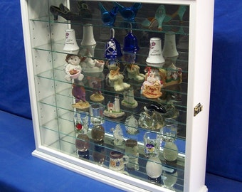 White Wall Curio Cabinet Display