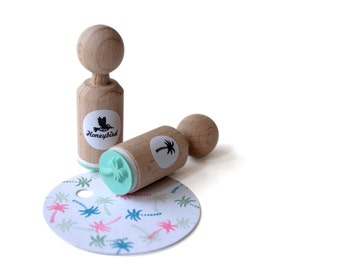 Palm Tree Mini Stamp with mint rubber