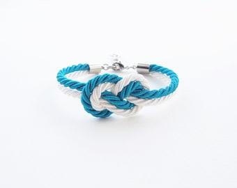 Asking bridesmaid bracelet - beach wedding jewelry - beach wedding gift - tie the knot bracelet - nautical wedding gift - bridesmaid gift