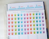 Cleaning Stickers, Set of 72 Planner Stickers, Chore Stickers, Erin Condren Planner Stickers, Happy Planner Stickers