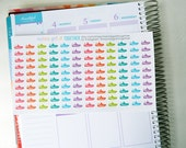 Exercise Stickers, Set of 120, Workout Stickers, Fitness, Erin Condren Planner Stickers, Happy Planner Stickers