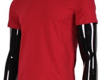 Stretch Burgundy Cotton T-Shirt.