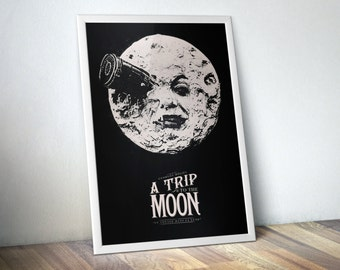 A Trip to the Moon Movie Poster / Best Selling Items / Most Sold Items / Minimal Movie Poster / Art for Movie Lovers / Film Icon Poster