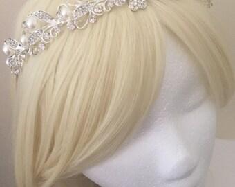 Bridal Headband, Bridal Headpiece, Wedding Bridal Hair Accessories, Wedding Headpiece, Wedding Headband, Bridal Hair Piece, Pearl Headband
