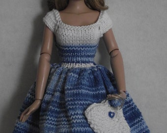 "Hand knitted dress for Tonner 15"" and 16""."