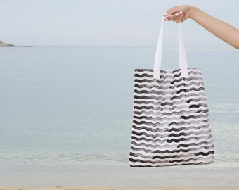 Tote Bag, Canvas Tote Market Bag, Hand Painted