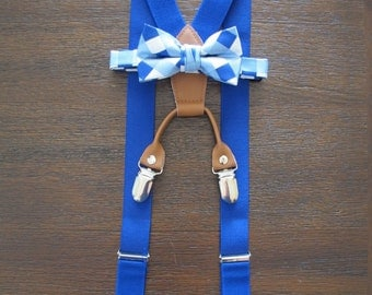 Blue Toddler Bow Tie and Suspenders, Royal Blue Suspenders, Blue Toddler Bow Tie and Suspenders, Royal Blue Suspenders, Blue Toddler Bowtie