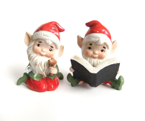 Vintage gnome figurines sold as is christmas by vintagebyjade