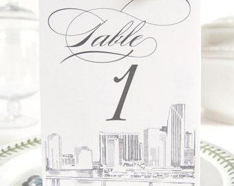 Miami Skyline Table Numbers (1-10)