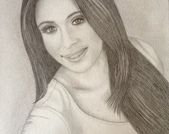 Custom Graphite Portrait Drawing Custom Sketch Drawing From Photos