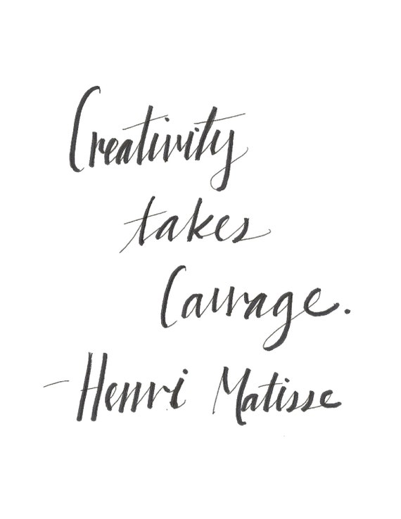 Henri matisse quote calligraphy poster by molliecharlottes
