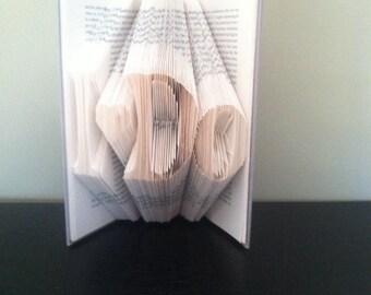 I Do- Custom upcycled Folded Book