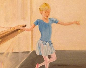 """Original acrylic painting, """"Mid-step, Pas de Beurre."""" 16"""" x 20"""""""