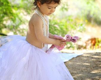 Girls White Tutu-White Toddlers Tutu-Girls White Pearl Tutu-White Tutu-Flower Girl Tutu-Pageant Tutu-Girls White Dance Tutu-Holiday Tutu