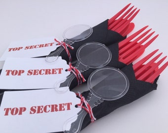 Spy Party Flatware: Secret Agent Party, Detective Party Supplies