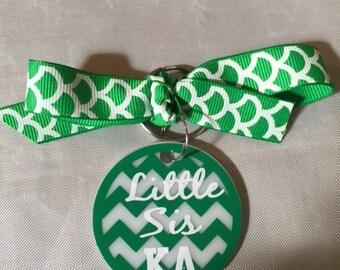 Kappa Delta Little Sis Keychain