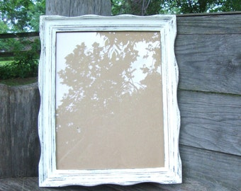 Wavy 8x10 Vintage Picture Frame- You Choose Color- Distressed Rustic Hand Painted Nursery, Wedding Rustic Home Decor, Wedding Table