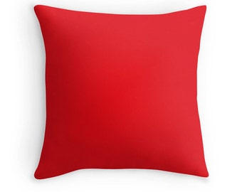 Red Pillow, Red Throw Pillow, Red Decorative Pillow, Red Pillow, Red Toss Pillow, Red Bedding, Red Pillow Case, Red Pillow Cover, Red Decor