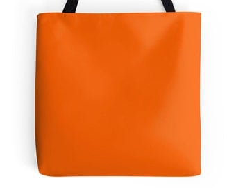 Orange Tote Bag, Orange Bag, Orange Purse, Orange Tote, Orange Bookbag