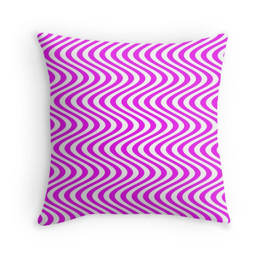 Decorative Pillow Pink : Pink White Pillow Pink Decorative Pillow Pink White Decor
