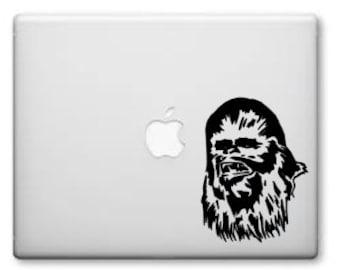 Chewbacca Starwars Vinyl Decal - Macbook Pro or car decal - Laptop Decals - Car Window Decals - Starwars Vinyl Decals