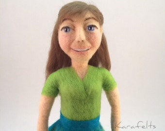 Brooke, a needle felted art doll