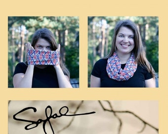 Infinity Scarf for women Lets play Chess!