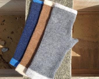 Fingerless Gloves, 100% Lambs Wool