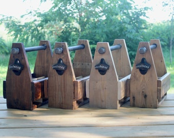 Reclaimed Wood Beer Caddy