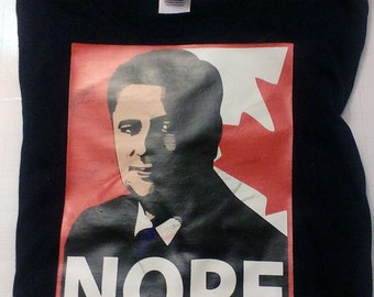 NOPE Harper Progressive Conservative Political Tee Shirt