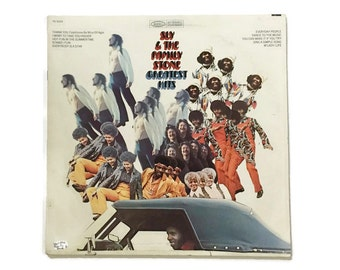 """Sly and the Family Stone, """"Greatest Hits"""", vinyl record album, 1970s, soul LP, funk, compilation, everyday people, stand!"""