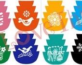 Pyrex Bowl stack with Pyrex design vinyl decal