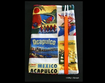 Acapulco travel wallet. Handmade.