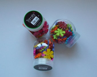 Trimits Craft Buttons, 75g, FLOWERS