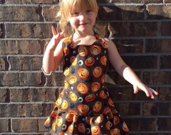 Girls Halloween Outfit - Pumpkin Skirt - Trick or Treat - Fall Festival Outfit - Toddler 3T Pumpkin Set - Girls Halloween Clothing Set