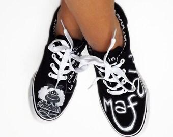 Mafalda sneakers, hand painted.