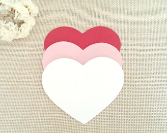Large hearts die cuts,paper hearts,Gold heart die cuts,Red heart cut outs,Cream heart die cuts,Mint heart paper,Heart wish tags,Red hearts