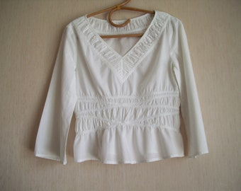 White cotton blouse shirt