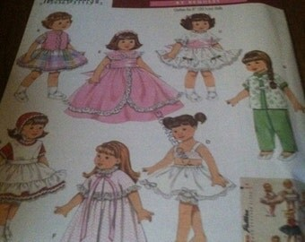 Simplicity 8 inch doll clothes pattern NEW