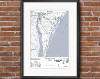Wilmington NC Art, Wilmington Poster, Wilmington Map