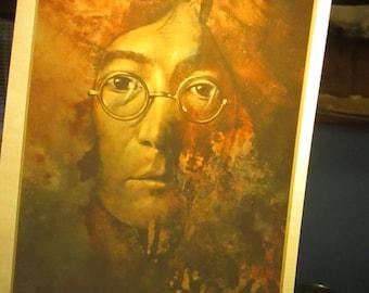 John Lennon iron on decal