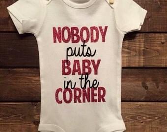 Nobody puts baby in the corner onesie, dirty dancing onesie