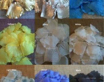 1000 Silk Rose Petals - 20 Colors Available, Silk Petals, flower girl toss, Wedding aisle runner petals, Artificial Petals, Fake Rose Petals