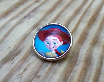 Toy Story Cowgirl Snap Button
